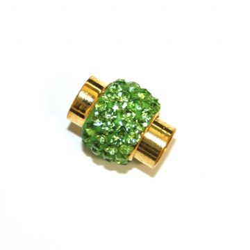 7mm - 17mm×14mm Lime green stone pave crystal magnetic clasps -gold-13